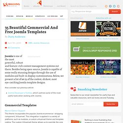 35 Beautiful Commercial And Free Joomla Templates - Smashing Mag