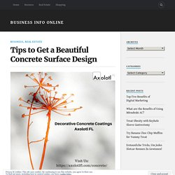 Tips to Get a Beautiful Concrete Surface Design