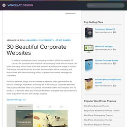 40 Beautiful Corporate Websites