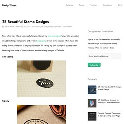 25 Beautiful Stamp Designs