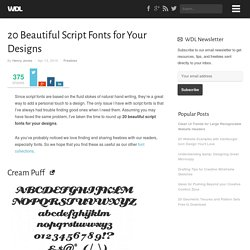20 Beautiful Script Fonts for Your Designs