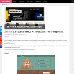 20 Fresh & Beautiful HTML5 Web Designs For Your Inspiration