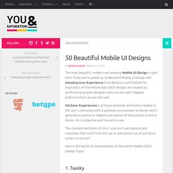 50 Beautiful Mobile UI Designs