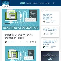 Beautiful UI Design for API Developer Portals