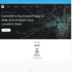 Create beautiful dynamic data driven maps | CartoDB