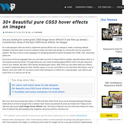 30+ Beautiful pure CSS3 hover effects on images - WpFreeware