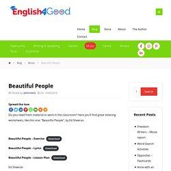 Beautiful People - English4Good - Learn English with music