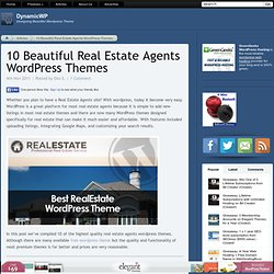 10 Beautiful Real Estate Agents WordPress Themes