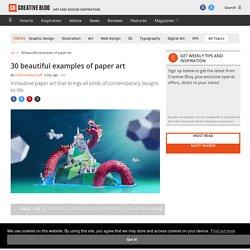 Paper art: 35 beautiful examples