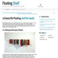 10 beautiful floating shelf for books ← Floating Shelf