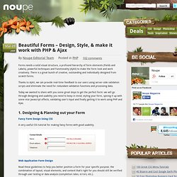 "BESTPRACTICES - ContactForm - Beautiful Forms – Design, Style, & make it work with PHP & Ajax "" Noupe"