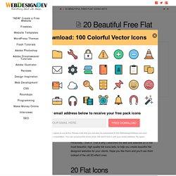 20 Beautiful Free Flat Icons Sets