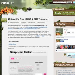 40 Beautiful Free HTML5 & CSS3 Templates