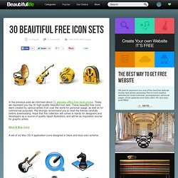 30 Beautiful Free Icon Sets