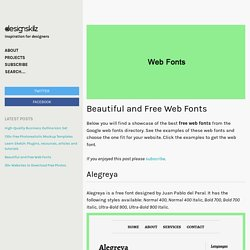 Beautiful, Free Web Fonts