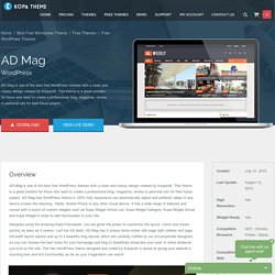 AD Mag - beautiful free WordPress theme
