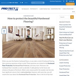 How to protect the beautiful Hardwood Flooring?