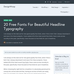20 Free Fonts For Beautiful Headline Typography
