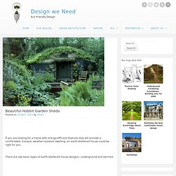 Beautiful Hobbit Garden Sheds