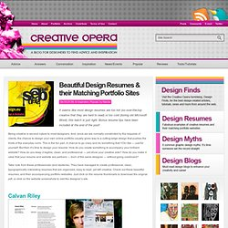 Beautiful Design Resumes & their Matching Portfolio Sites | Creative Opera Design Blog: Creative Advice and Inspiration for Graphic Designers and Web Designers