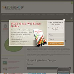 20 Beautiful And Inspirational iPhone App Website Designs