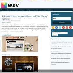 "30 Beautiful Wood Inspired Websites and 200+ ""Woody"" Resources"