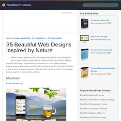 35 Beautiful Web Designs Inspired by Nature