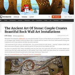 The Ancient Art Of Stone: Couple Creates Beautiful Rock Wall Art Installations