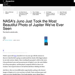 NASA's Juno Took Beautiful Photo of Jupiter with Color Retouch
