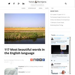 117 Most beautiful words in the English language