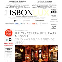 The 10 Most BEAUTIFUL BARS in LISBON