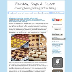 What beautiful little feet you have, Miss Macaron! « Parsley, Sage, Desserts and Line Drives