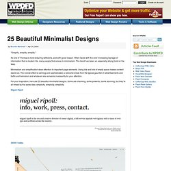 25 Beautiful Minimalist Designs