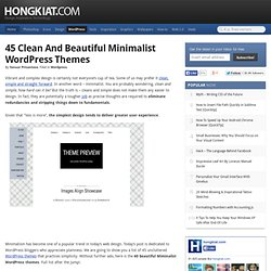 Clean and Beautiful Minimalist Wordpress Themes