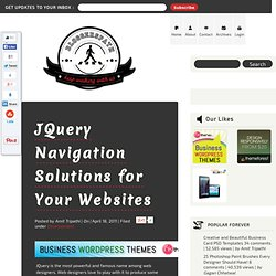 14 Beautiful JQuery Navigation Plugins for Your Websites