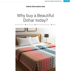 Why buy a Beautiful Dohar today?