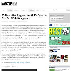 30 Beautiful Pagination (PSD) Source File For Web Designers
