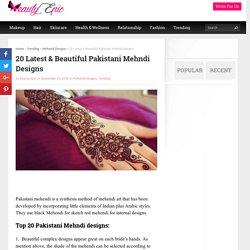 20 Latest & Beautiful Pakistani Mehndi Designs