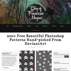 200+ free beautiful Photoshop patterns hand-picked from DeviantArt - FrancescoMugnai.com