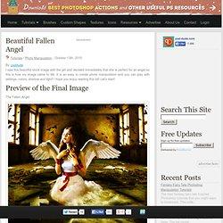 Beautiful Fallen Angel - Photoshop tutorial