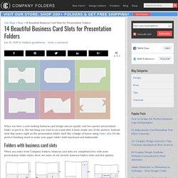 14 Beautiful Business Card Slots for Presentation Folders
