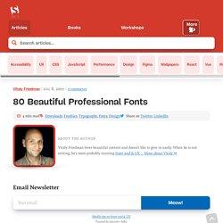 80 Beautiful Typefaces For Professional Design