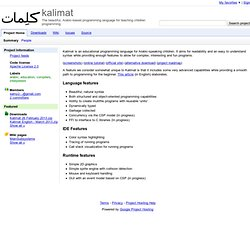 kalimat - The beautiful, Arabic-based programming language for teaching children programming.