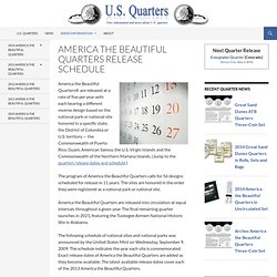 America the Beautiful Quarters Release Schedule