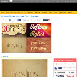 26 Beautiful Free Retro Style Fonts - Download
