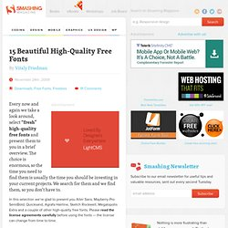 15 Beautiful High-Quality Free Fonts « Smashing Magazine
