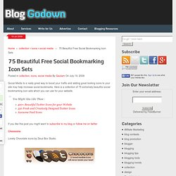 75 Beautiful Free Social Bookmarking Icon Sets
