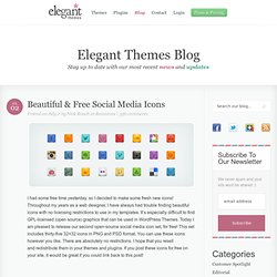 Beautiful & Free Social Media Icons | Elegant Themes Blog