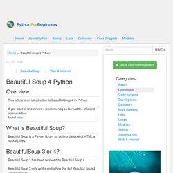 Beautiful Soup 4 Python