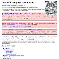 Beautiful Soup documentation